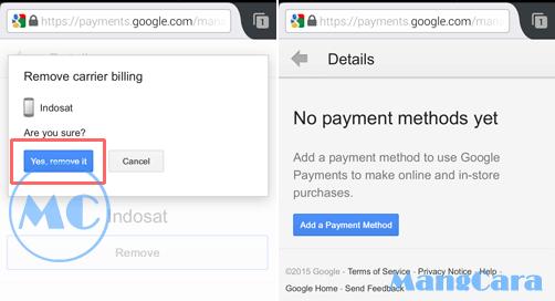 Cara Menghapus Carrier Billing Indosat dari Google Play Store