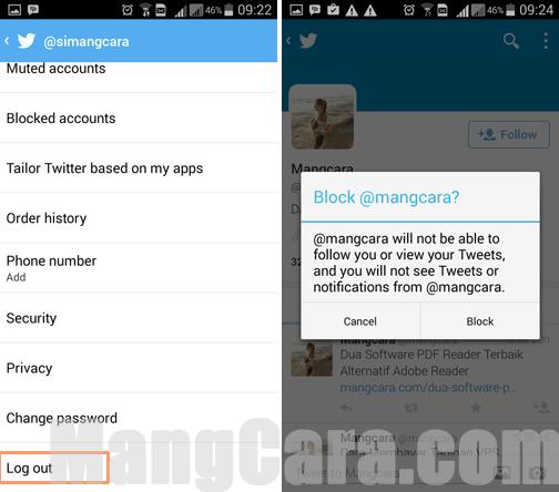 Cara Keluar atau Log Out Dari Twitter di HP Android