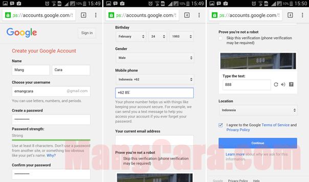 2 Cara Untuk Membuat Akun Gmail Baru di HP Android