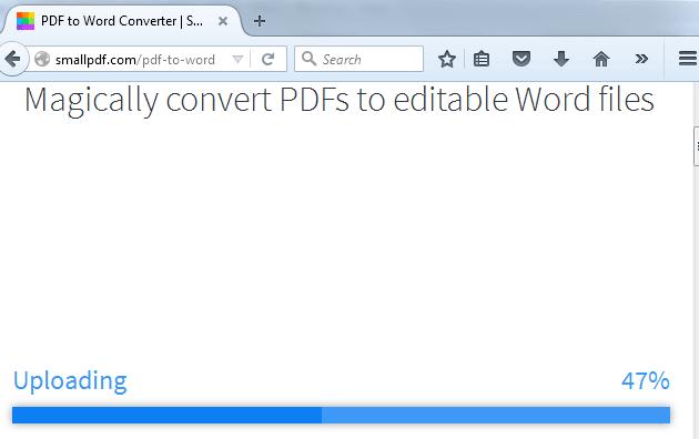 Cara Mengubah File PDF ke MS Word Online Dengan SmallPDF