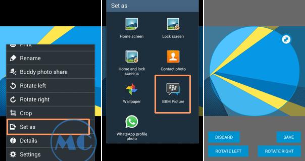 Cara Cepat Mengganti Wallpaper, Foto Profil BBM dan WhatsApp di HP Android Samsung