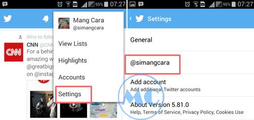 Mengganti Kata Sandi Twitter di HP Android