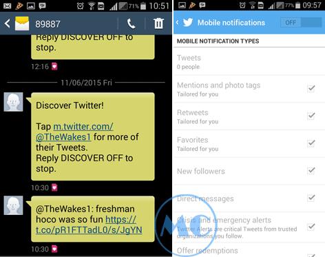 Cara Mudah Stop SMS Notifikasi Twitter di Android dan PC