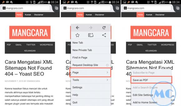 Bagaimana Cara Menyimpan Halaman Web Menjadi PDF di Android