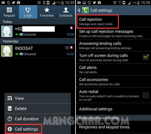 Cara Memblokir Kontak atau Panggilan Masuk Di HP Android Tanpa Aplikasi