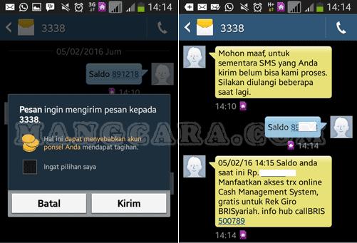 Cek Saldo Rekening BRI Syariah Lewat SMS Banking (smsBRIS)