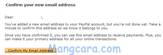 Bagaimana Cara Menambah atau Ganti Email Utama Paypal