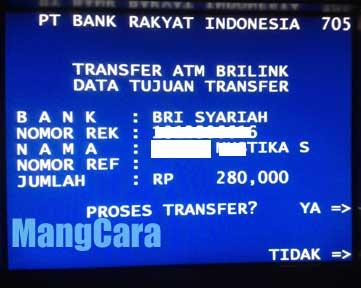 Potongan Biaya Transfer BRI Ke BRI Syariah 2016