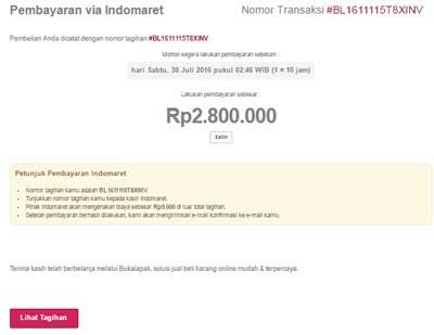 Opsi Pembayaran Bukalapak di Indomaret Jika Tidak Mempunyai Rekening Bank