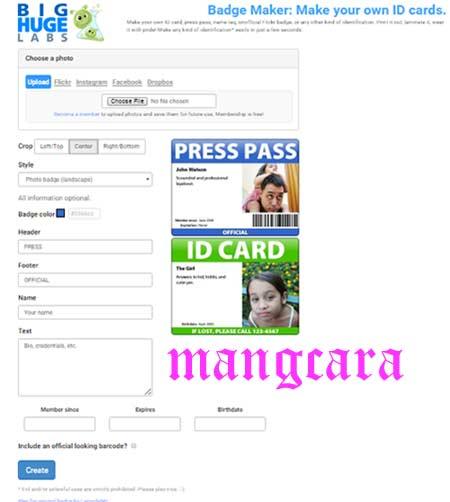 Cukup 5 Menit Cara Membuat ID Card online Gratis