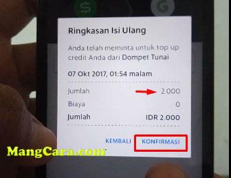 Cara Mengisi Dompet Kredit/Top up Dari Dompet Tunai Terbaru