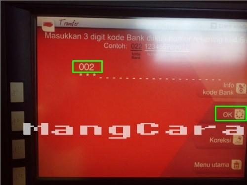 Cara Transfer Uang Lewat ATM CIMB Niaga ke Bank BRI dilengkapi Gambar