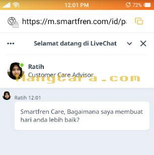 Cara Melakukan Live Chat Smartfren dari Handphone