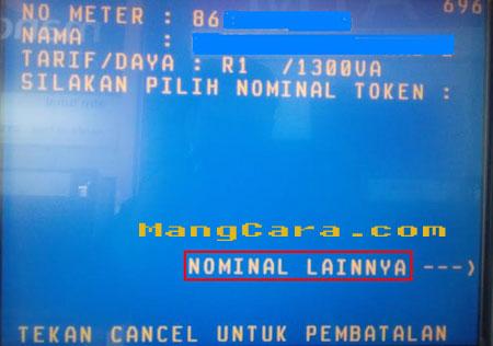 Cara Membeli Token Listrik di ATM BNI disertai Gambar