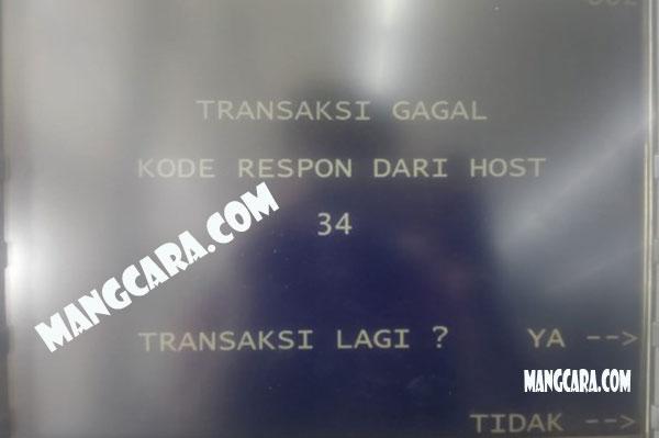 Ternyata Kode Respon dari Host 34 ATM BRI Ini Penyebabnya