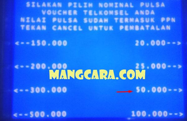 Berapa Harga Pulsa Telkomsel di ATM BNI