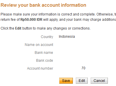 Paypal Bank mandiri