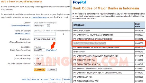 Cara Menambahkan Rekening Bank Lokal (Mandiri)
