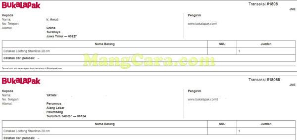 Cara Print Invoice Bukalapak Untuk Pelapak Mangcara