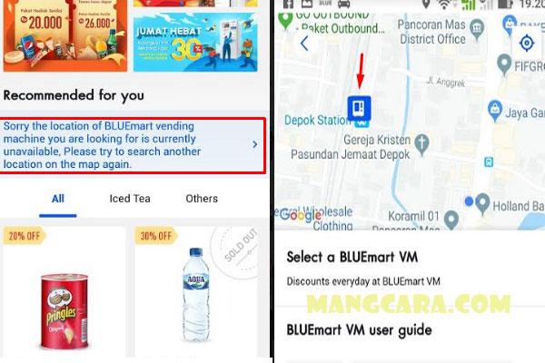 Langkah Langkah Daftar Blue Mart Dapat Minuman Gratis
